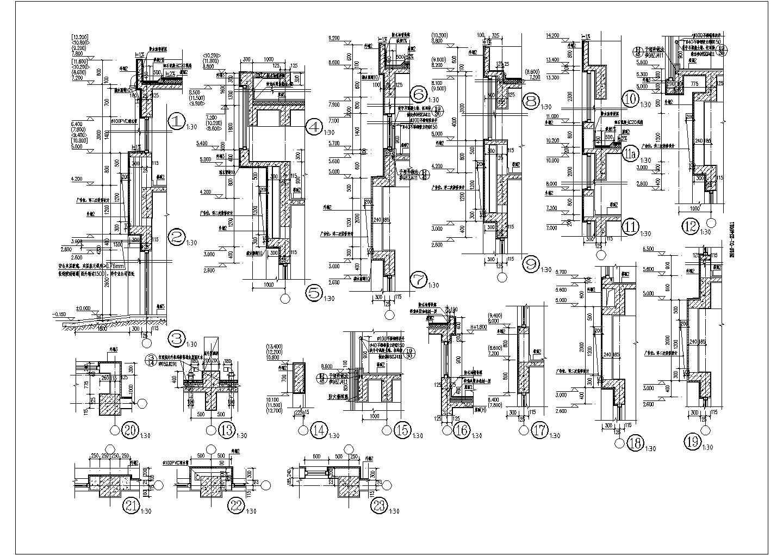某3087�O3层商贸物流中心三层沿街商铺建筑施工图(1号楼)VIP图片2