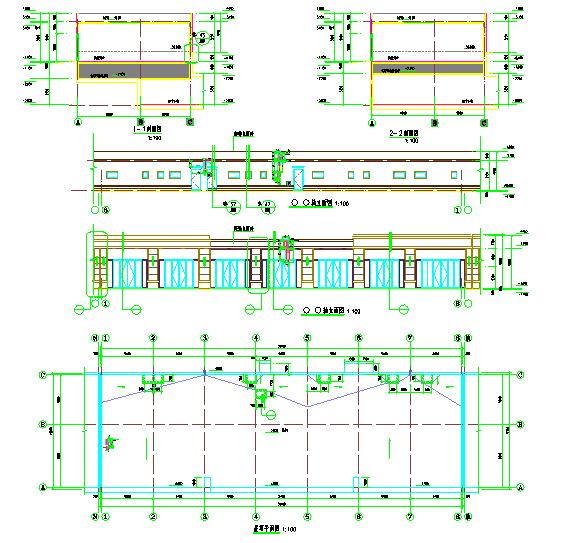 单层S1#沿街商铺建筑水暖电设计施工图图片1