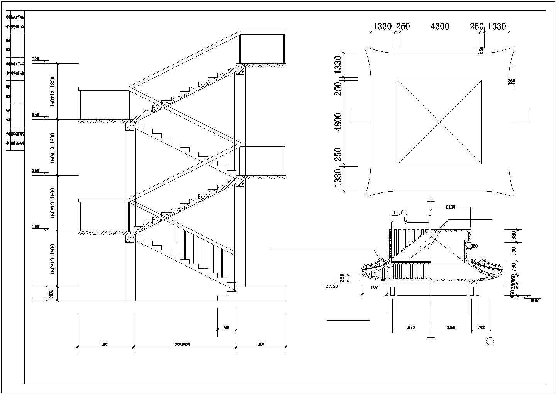 [吉林]某三层仿古立面沿街商铺建筑扩初图VIP图片3