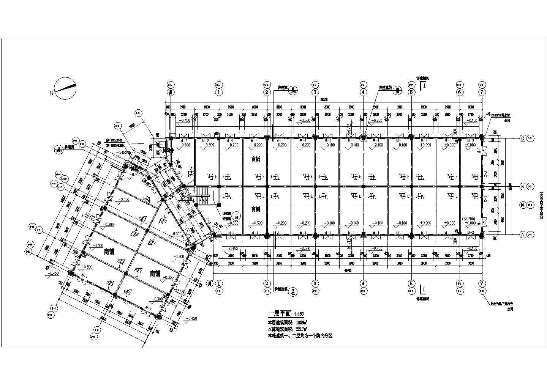 [宜昌]某地商贸物流中心二层沿街商铺建筑施工图(现代风格)VIP图片2