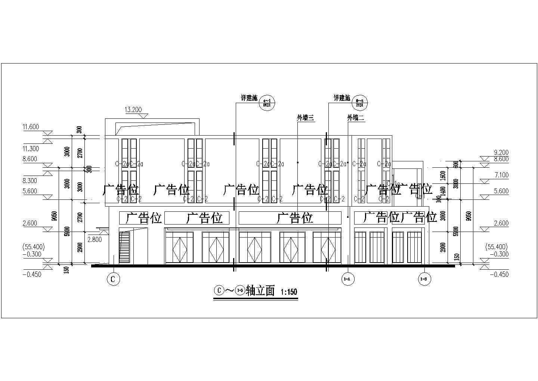 [宜昌]某地商贸物流中心二层沿街商铺建筑施工图(现代风格)VIP图片3
