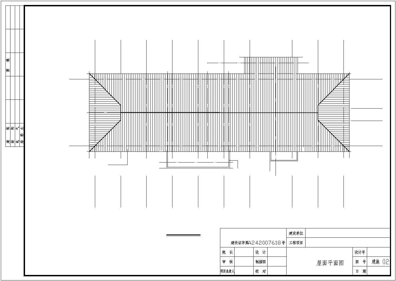 木屋架学校餐厅结构施工图(含建施)图片2