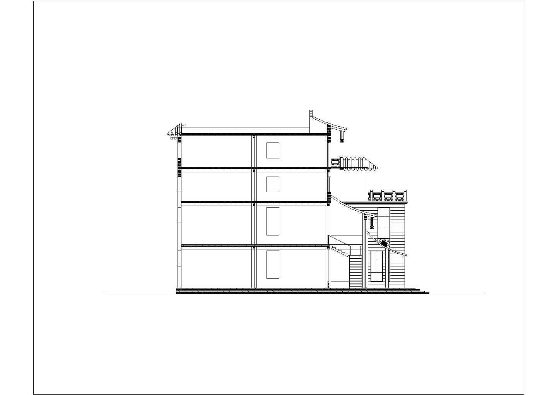 [方案]某仿古建筑工厂办公楼和厂房建筑方案图(含效果图)图片2