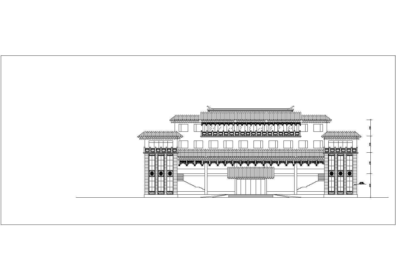 [方案]某仿古建筑工厂办公楼和厂房建筑方案图(含效果图)图片3