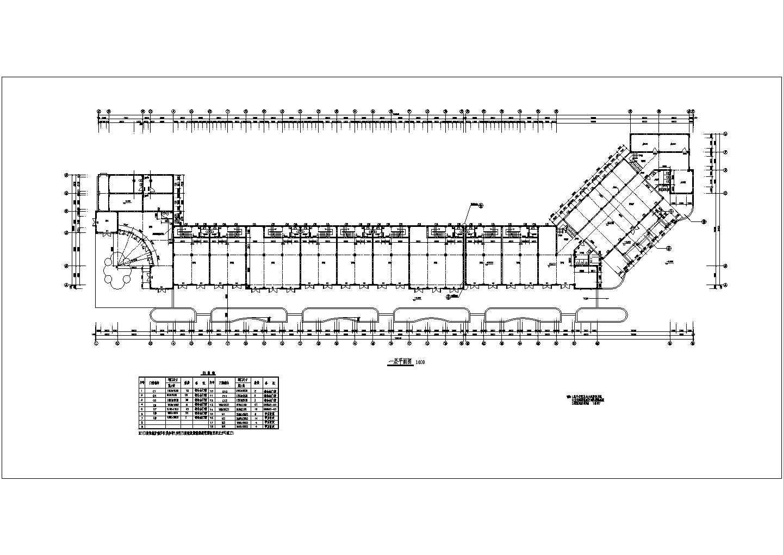某地沿街商铺与会所二号楼设计施工建筑cad图图片2