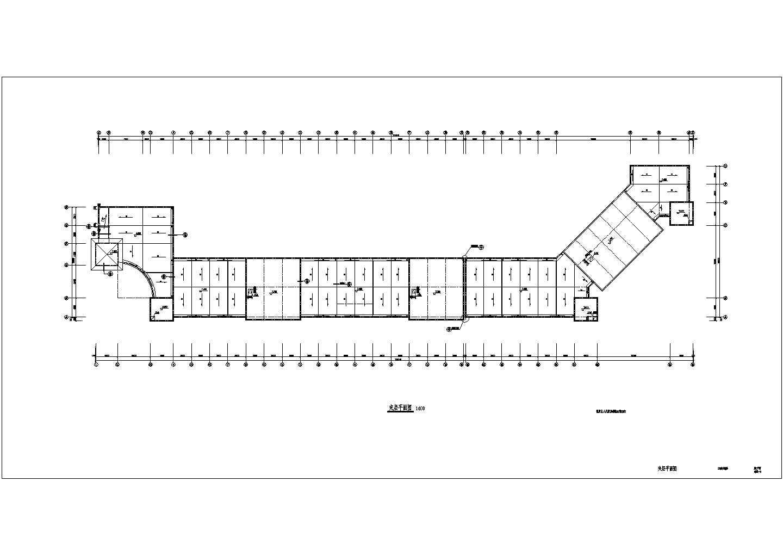 某地沿街商铺与会所二号楼设计施工建筑cad图图片3