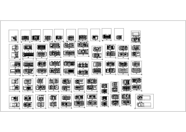 各种柜子里面图――室内装修CAD素材图片2