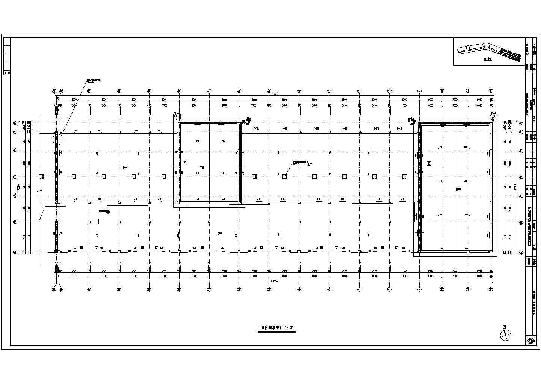 某地步行街商铺建筑cad图(框架核心筒钢筋混凝土结构)图片1