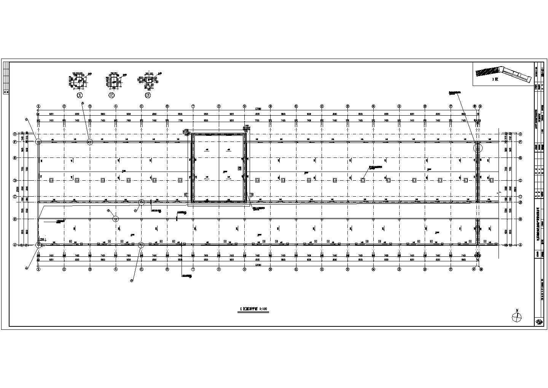 某地步行街商铺建筑cad图(框架核心筒钢筋混凝土结构)图片2