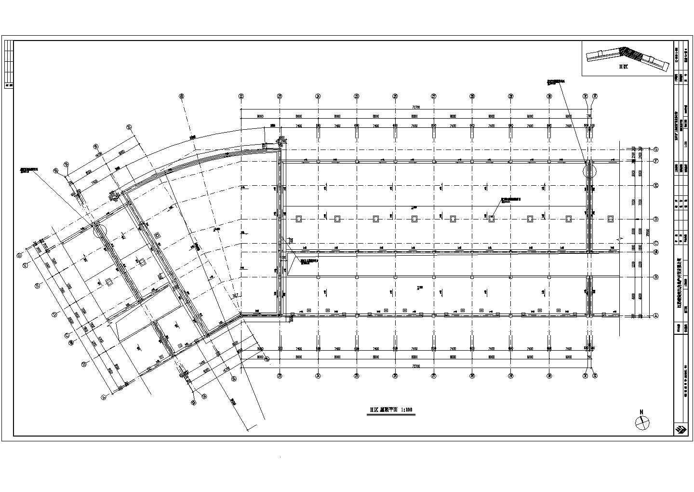 某地步行街商铺建筑cad图(框架核心筒钢筋混凝土结构)图片3