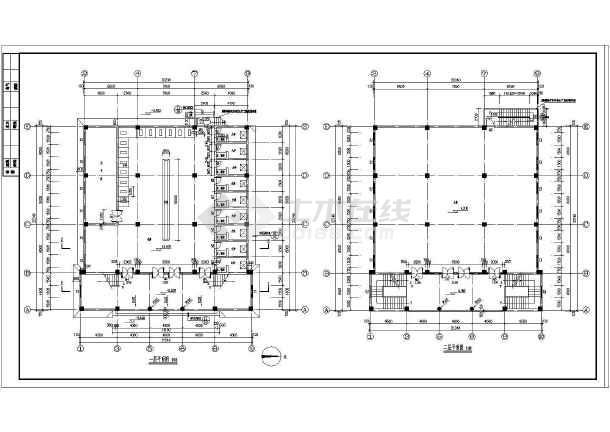 伊斯兰风格建筑某三层清真寺建筑施工图(附建筑效果图)-图一