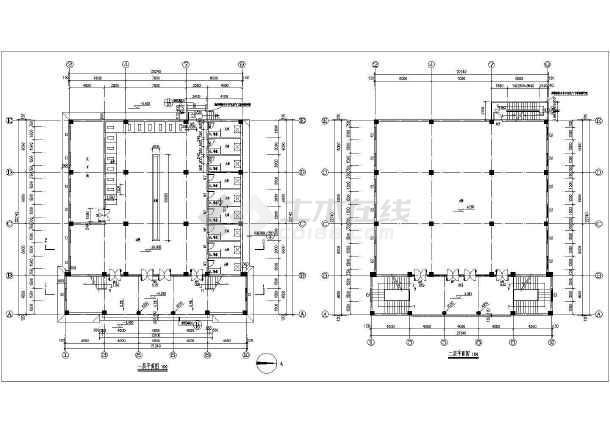 伊斯兰风格建筑某三层清真寺建筑施工图(附建筑效果图)-图二