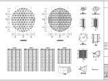 三向网格单层网壳结构厂房结构设计施工图图片1