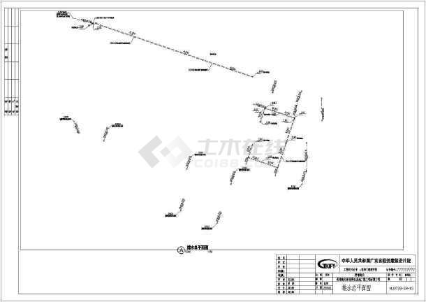 [黄埔]某附属工程公园建筑结构水园林施工图(二期)-图1