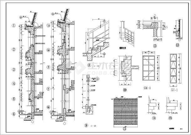 欧式园林观景塔建筑方案图(塔高34.3米)-图一