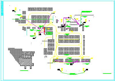 [湖南]某2.5万平米小区地下室电气平面图(含变电所布置图)图片1