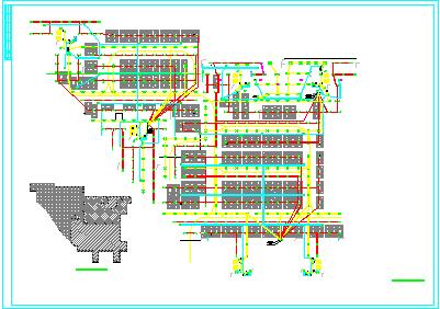 [湖南]某2.5万平米小区地下室电气平面图(含变电所布置图)图片3