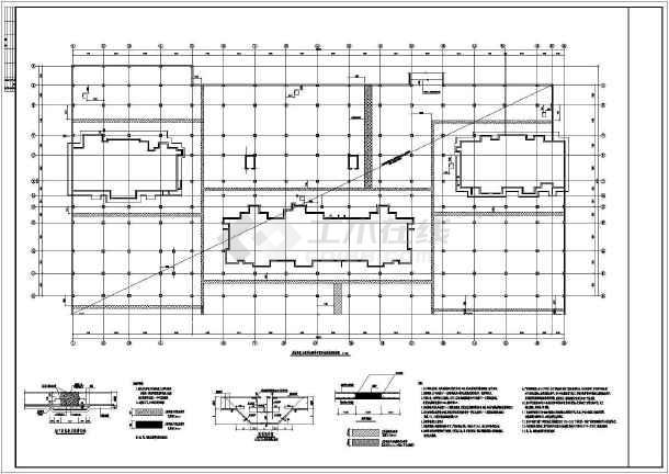 某大型地下停车库全套施工图(无梁楼盖)-图一
