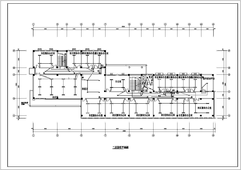 【济南】某2751平方米社区服务中心三层办公楼电气施工图图片2