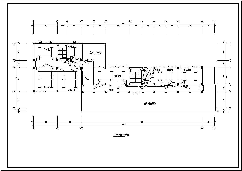 【济南】某2751平方米社区服务中心三层办公楼电气施工图图片3