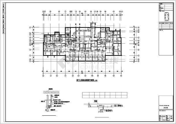 [江苏]89282㎡33层大型住宅小区全套给排水图纸(TTC同层排水、含5栋住宅楼)-图二