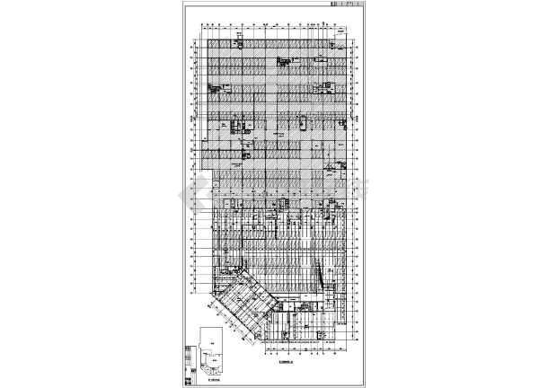[安徽]1.6万平米I类地下车库给排水施工图-图一