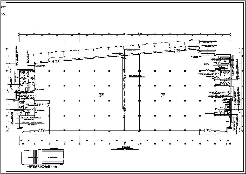 某36136�O地上八层丙类厂房电气施工图纸(二级负荷,第二类防雷)图片1