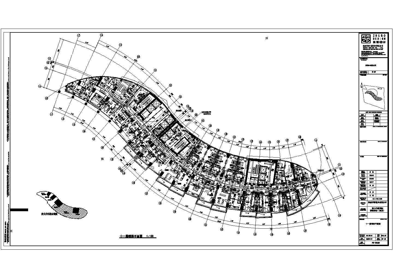 76193�O二十层海口丹娜给排水施工图(含泵房大样,卫生间大样,中水处理系统,气体灭火布置图,太阳能热水屋顶平面图)图片1