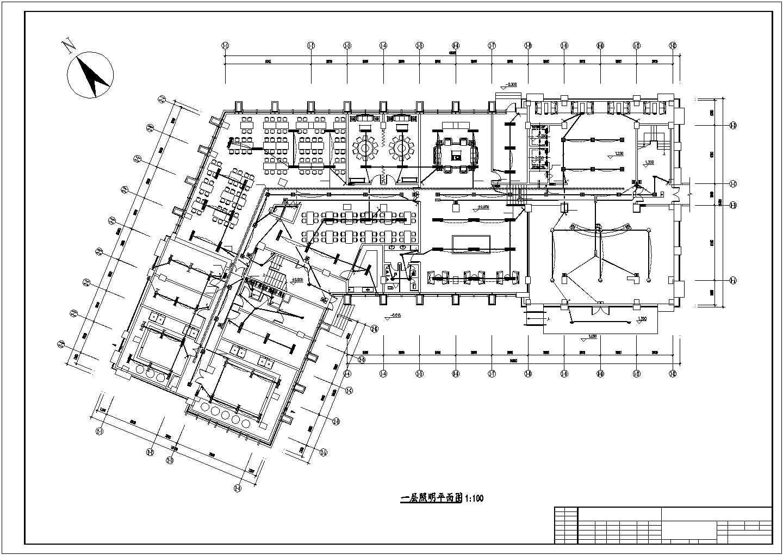 [郑州]某8006.61�O六层办公楼电气全套施工图(三级负荷)图片3