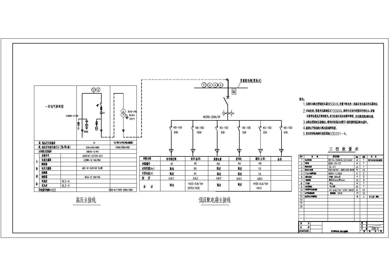 某变电站高低压主接线电气图纸图片1