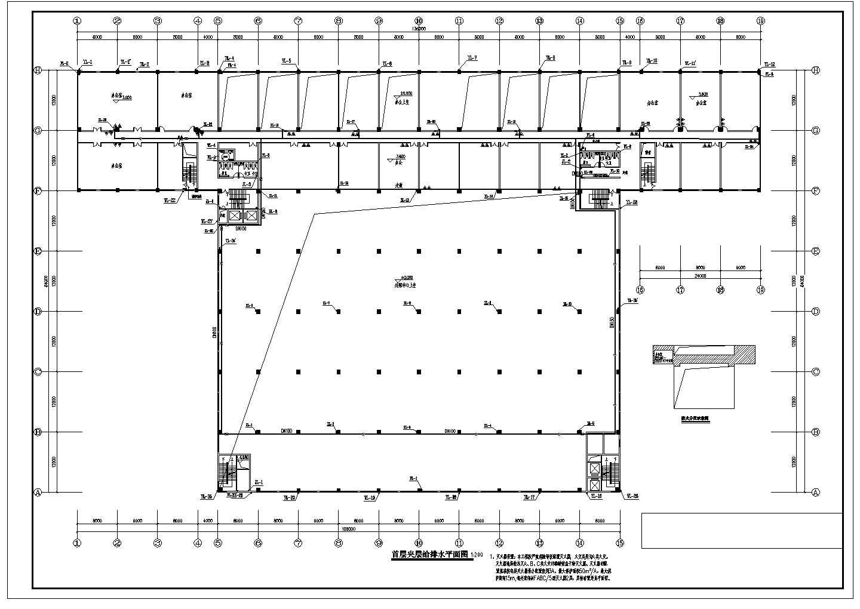 [广东]26205.899�O物流中心给排水消防施工图(自动喷淋系统)图片1