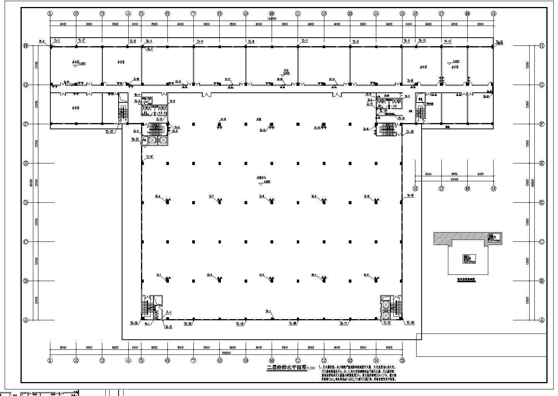 [广东]26205.899�O物流中心给排水消防施工图(自动喷淋系统)图片3