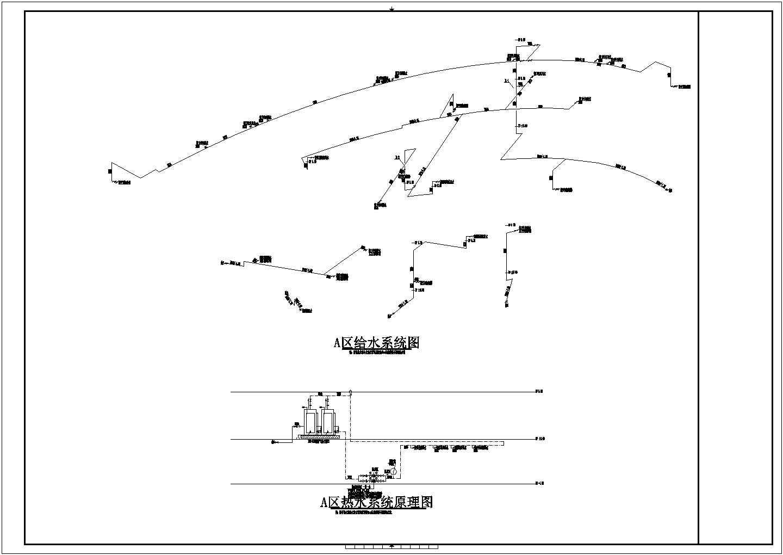 [上海]3900�O二层酒店给排水消防施工图(自动喷淋系统)图片3