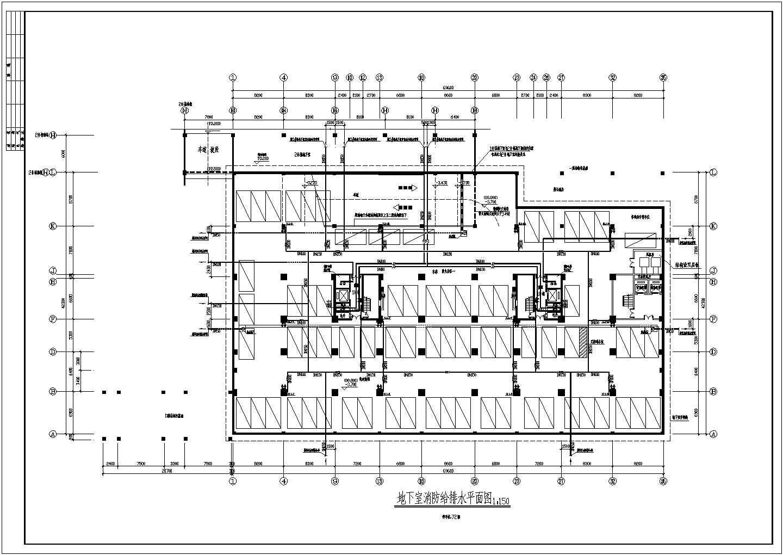 [湖南]26349.49�O一类高层商住楼给排水消防施工图(自动喷淋系统)图片1