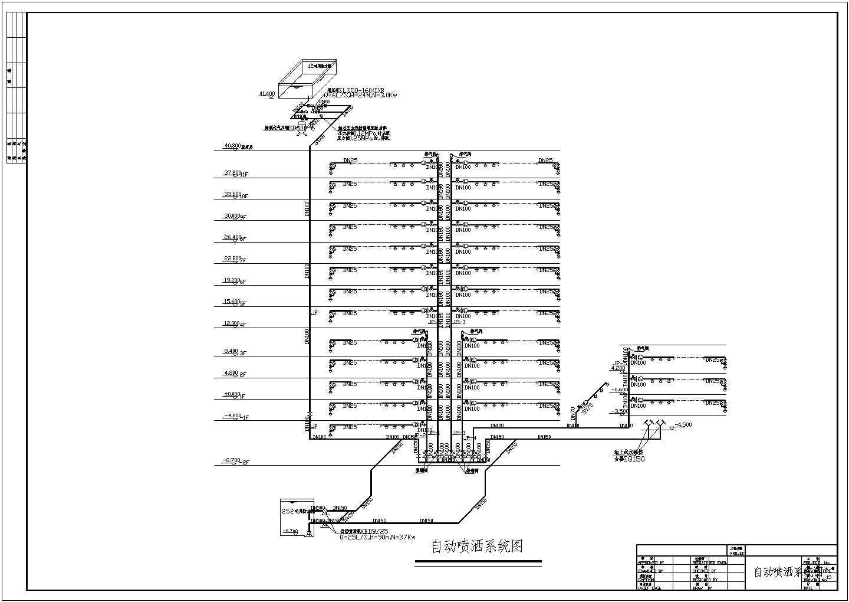 多层办公楼给排水及消防设计施工图(自动喷淋)图片1