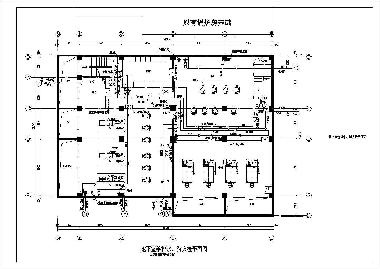 [北京]医院食堂给排水消防施工图(自动喷淋系统)图片1