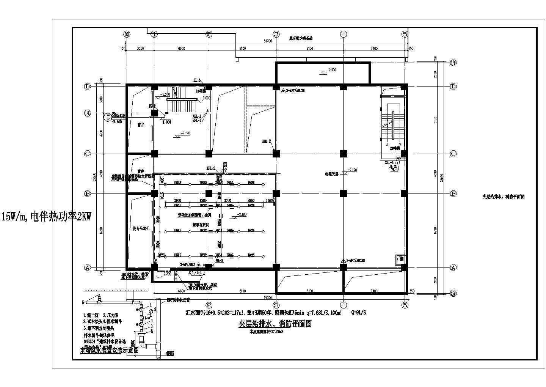 [北京]医院食堂给排水消防施工图(自动喷淋系统)图片2