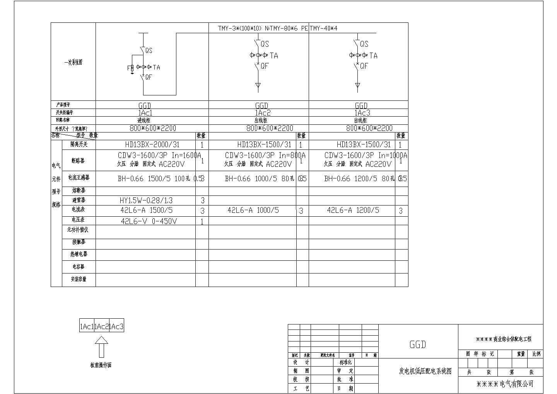 某商业综合体56台低压开关柜电气设计图图片1
