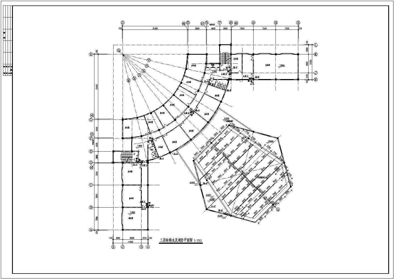 【内蒙古】某多层办公楼给排水及消防设计图图片1