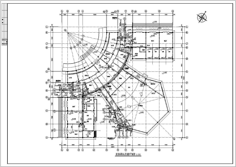 【内蒙古】某多层办公楼给排水及消防设计图图片3