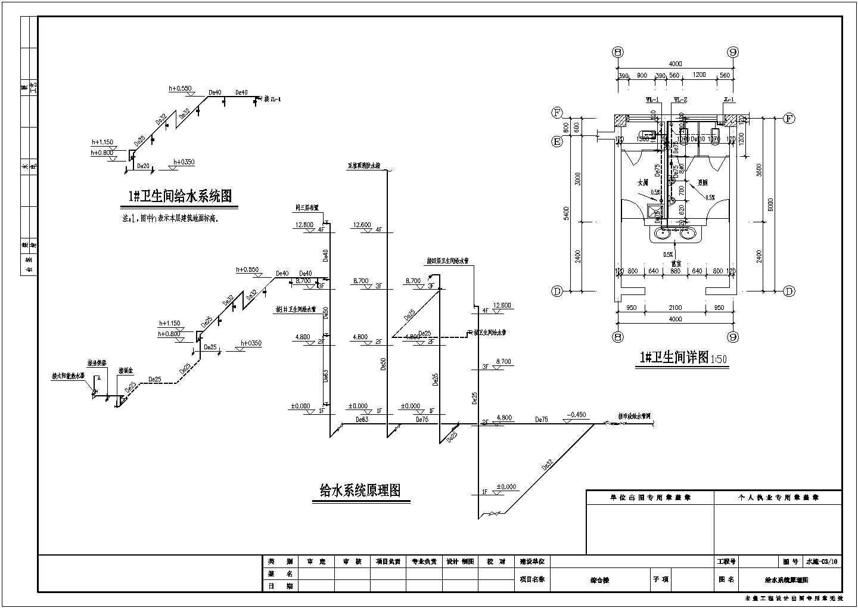 四层综合办公楼给排水及消防设计施工图图片2