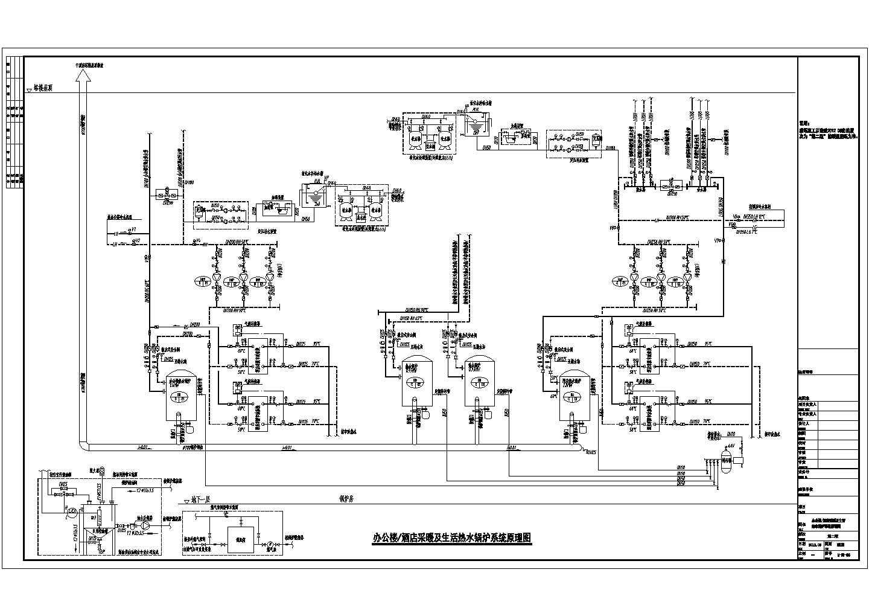 [新疆]103452�O二十三层酒店办公建筑暖通空调全套设计施工图纸(游泳池、冷热源机房、空调自控)图片2