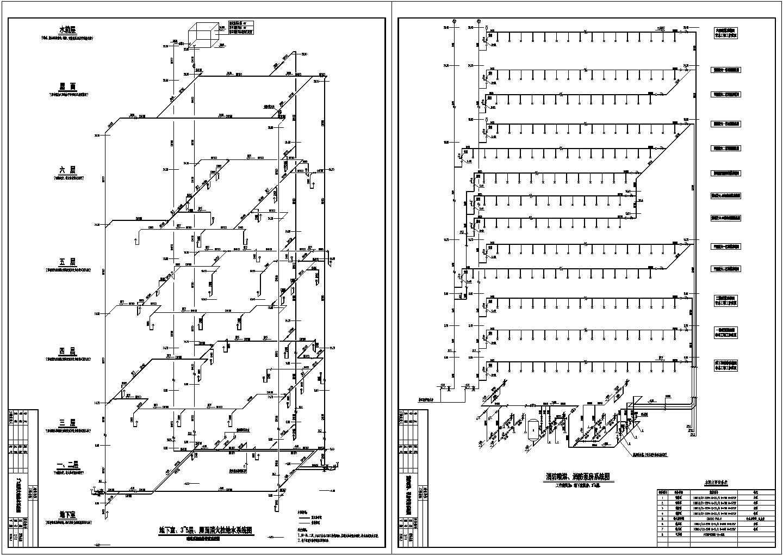 六层大型娱乐场所建筑给排水图纸图片2