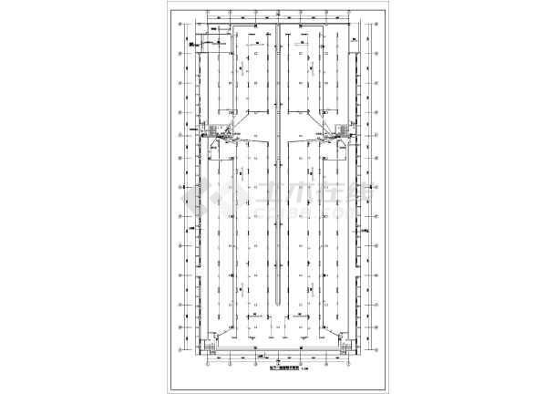 [新疆]某3282㎡商业小区地下停车库电气图纸(地下两层)-图一