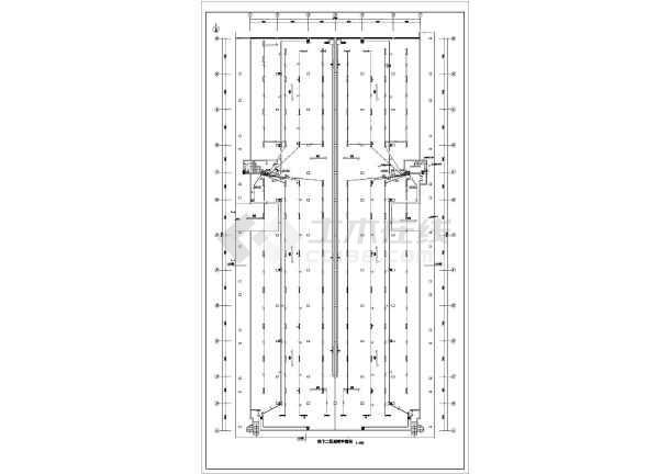 [新疆]某3282㎡商业小区地下停车库电气图纸(地下两层)-图二