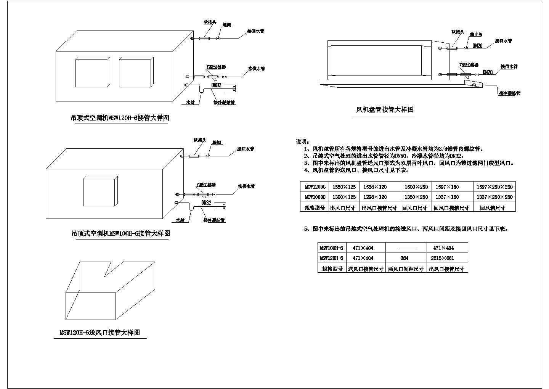 厂房中央空调全套施工图(含风机盘管安装图)图片2