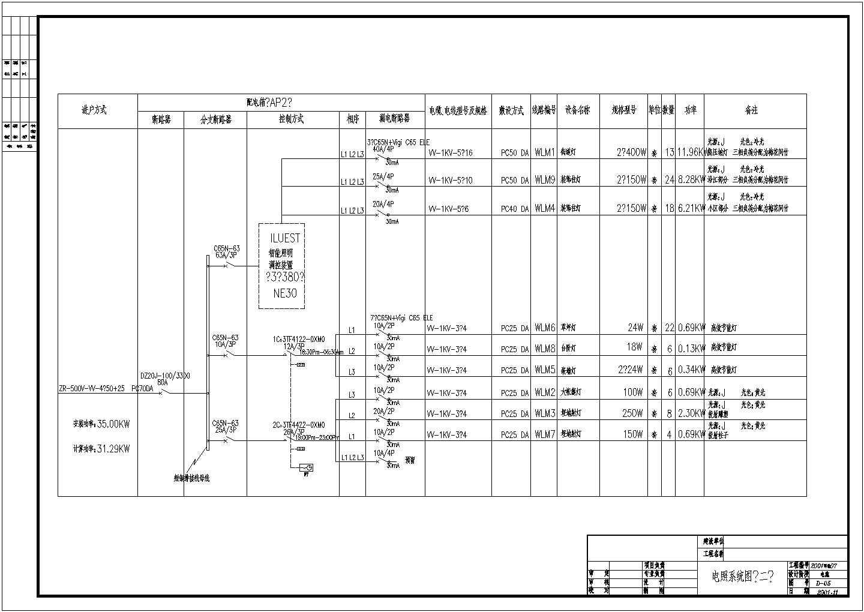 [广东]某高档小区照明系统设计施工图纸(含电气设计说明)图片2