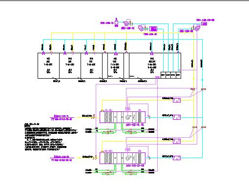 [湖南]某19790�O两层洁净厂房通风空调系统竣工图纸图片2