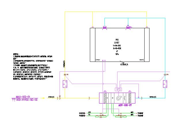 [湖南]某19790�O两层洁净厂房通风空调系统竣工图纸图片3