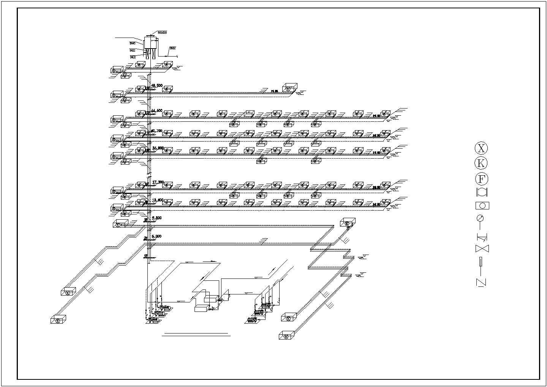长沙某30134�O十三层综合办公楼空调系统设计图图片2